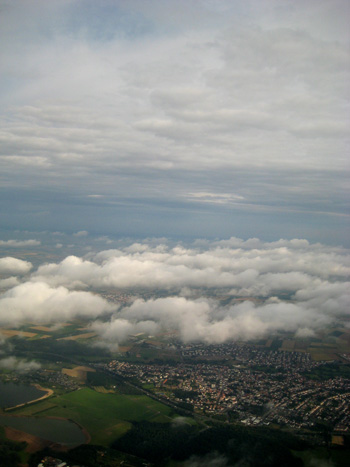 view of germany from a plane window