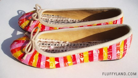 starburst wrapper ballet flats