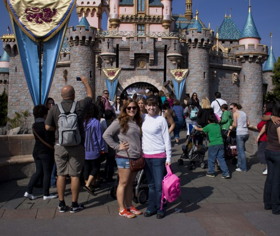 arianna and i in front of sleeping beauty&#039;s castle in disneyland!