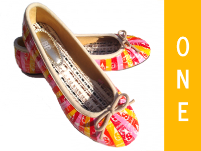 year one: starburst wrapper ballet flats