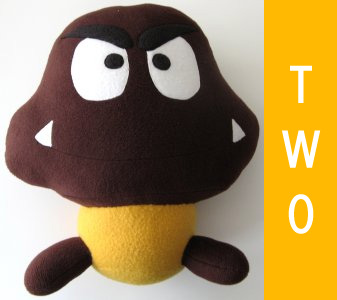 year two: plush goomba (super mario)