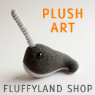 fluffyland shop: tiny narwhals and awesome plush