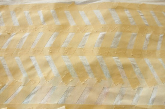 masking tape herringbone detail