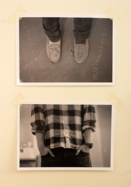 mocs & pockets, a diptych in black & white, feb. 2013