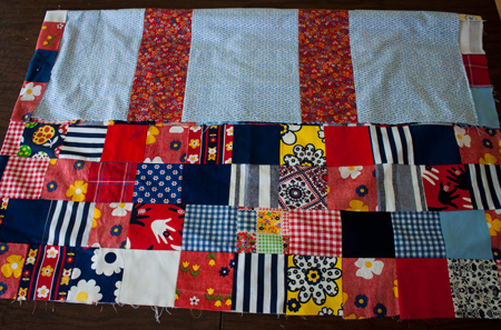 vintage red quilt back - version A