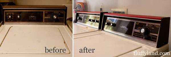 washer/dryer vinyl transformation: before & after