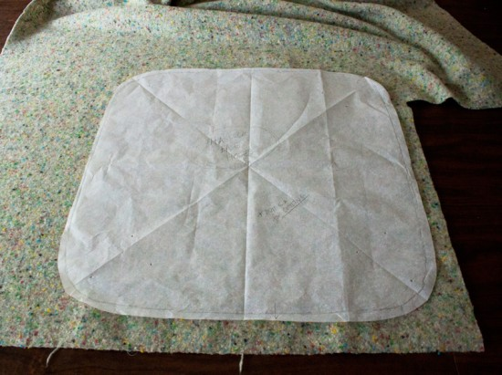 hassock upholstery-pattern