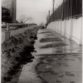 melting bridge - black & white film photograph