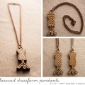 lasercut dressform pendants at samanthasnap - free shipping!