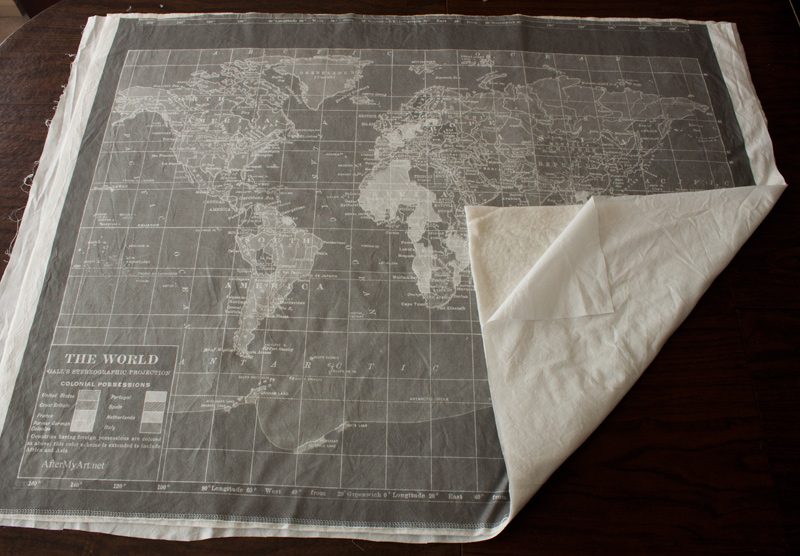 World Map Quilt Pattern.The World On My Wall Gray Vintage Map Quilt Fluffyland Craft