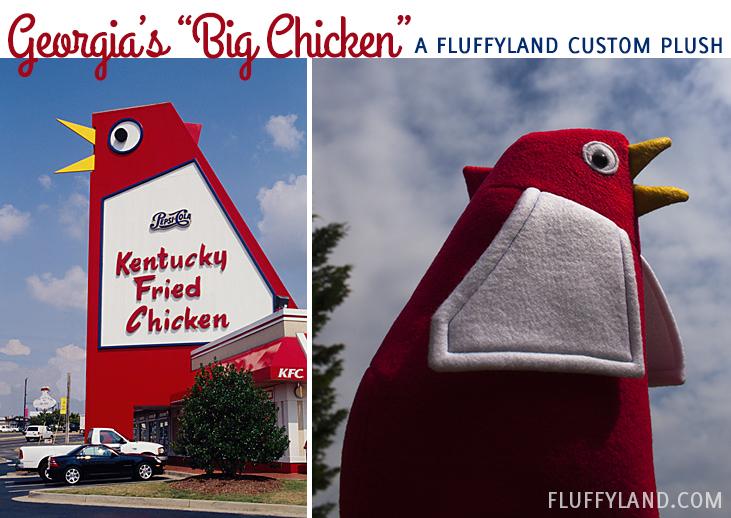 marietta georgia s big chicken in fluffyland custom plush form
