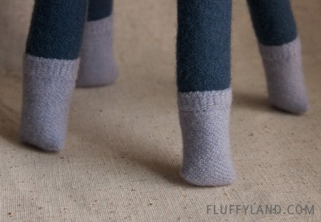wool plush alpaca - socks