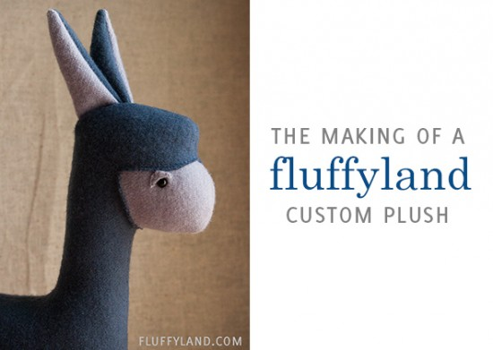 the making of a fluffyland custom plush