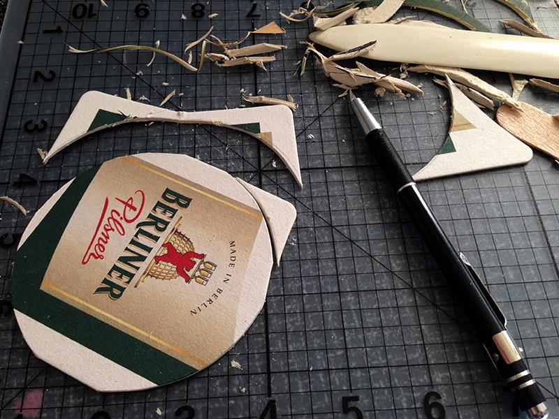 Cardboard coaster crafts - Cardboard beer coasters ...
