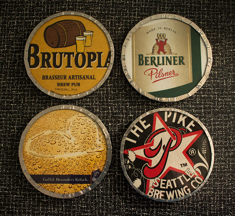 Quick craft preserving cardboard coasters with glass fluffyland craft sewing blog - Cardboard beer coasters ...