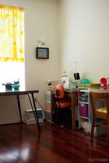 sewing room tour: view from the doorway