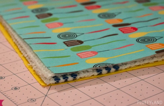 Diy Quilted Dish Drying Mat Fluffyland Craft Amp Sewing Blog