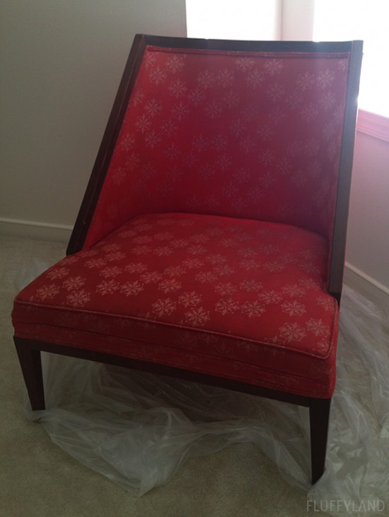 reupholstered-chreupholstered chair - before