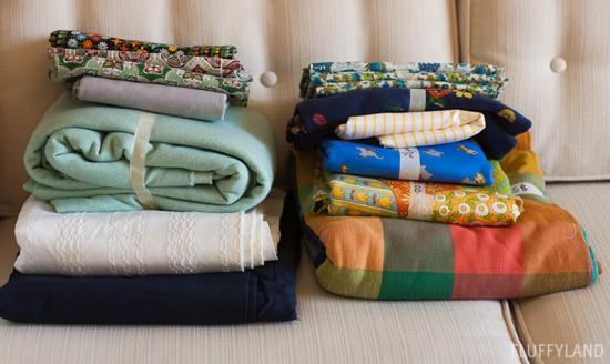 rummage sale 2014: fabric cuts