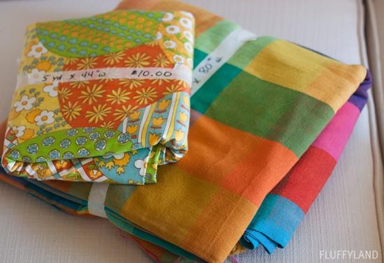 rummage sale 2014 - colorful fabrics