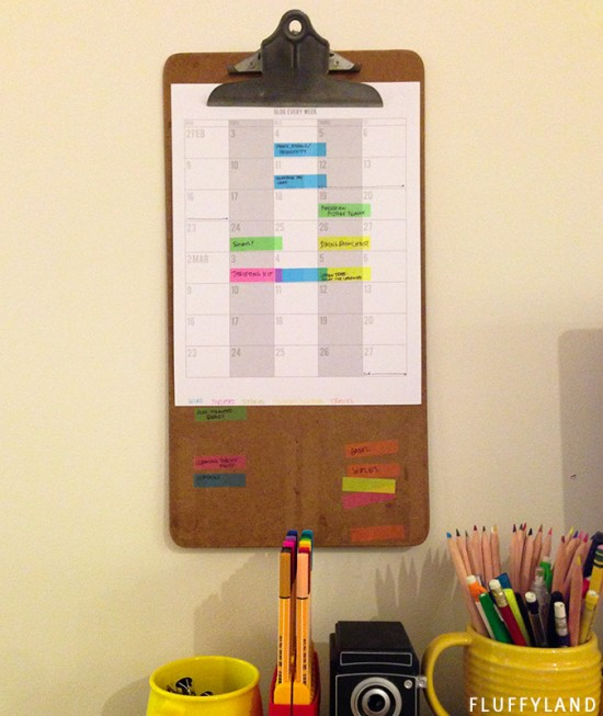 productivity: blog editorial calendar