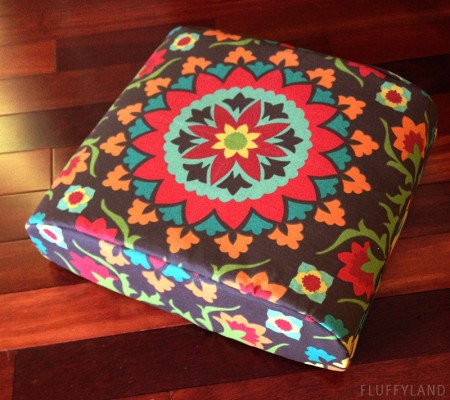 finished diy outdoor patio cushion