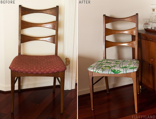 mid-century modern chair: queen anne's lace