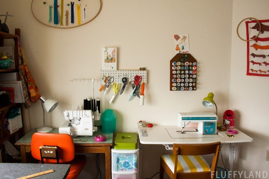 wiwo wednesday - clean sewing room