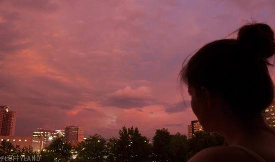 post-storm magenta sky