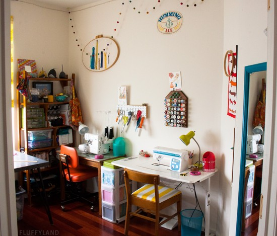 sewing room tour: fluffyland studio