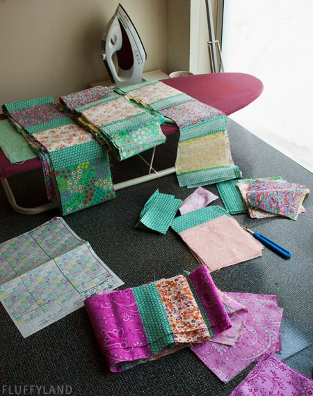 an 8-year-old quilt in progress