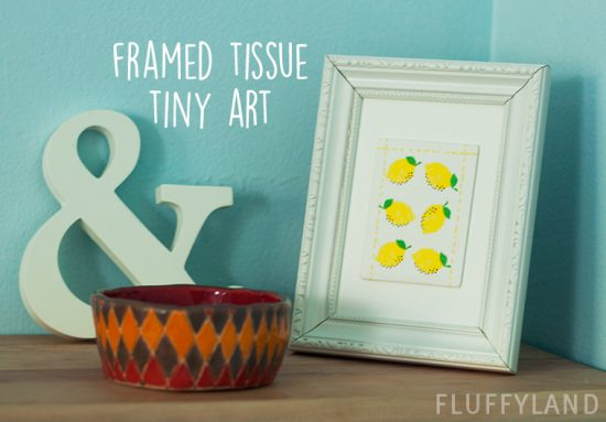 framed tissue tiny art - lemons