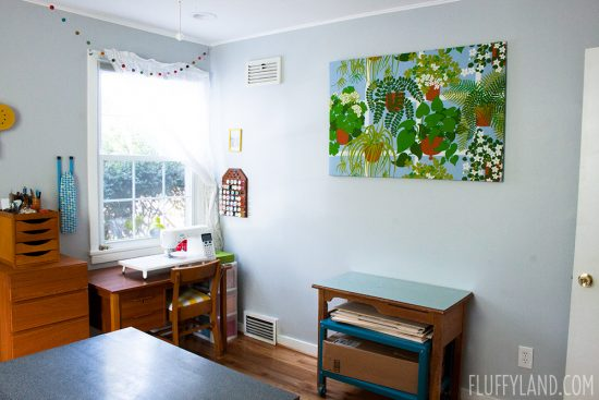 Fluffyland Sewing Room Tour: 2018