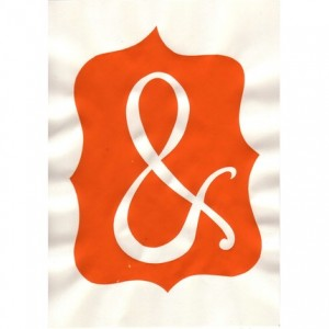 ORANGE ampersand screenprint by nellsmith on etsy