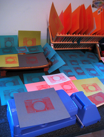 billions of orange camera gocco prints