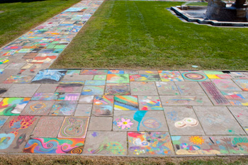 chalk festival at the cleveland museum of art