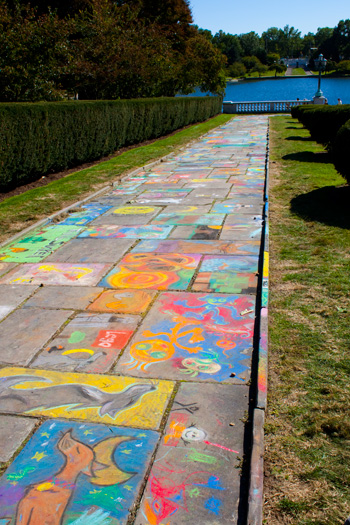 chalk festival at the cleveland museum of art: aftermath