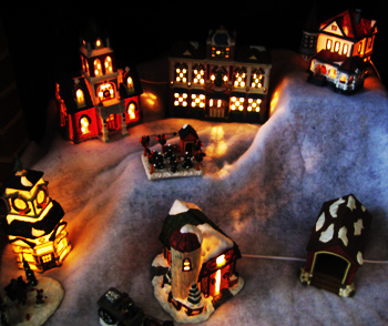 light-up christmas houses