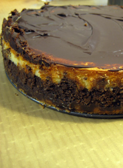 coconut chocolate cheesecake!