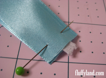 Fluffyland Ribbon Headband Tutorial - pinned