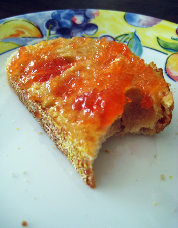 grapefruit marmalade toast