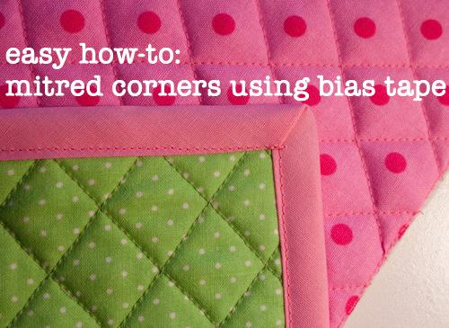 Bias Tape Mitred Corners Tutorial • Fluffyland Craft ...