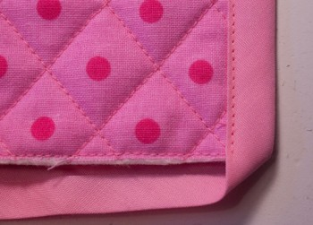 mitred corners bias tape tutorial: step 3