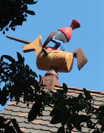 roof of pinocchio ride at disneyland