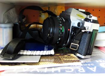 photography shelf