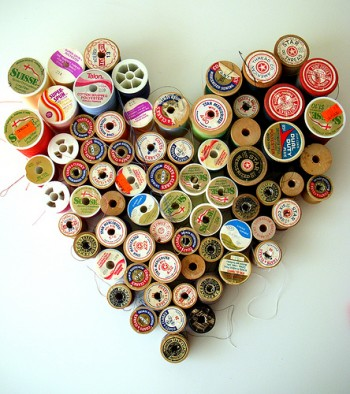 thread spool heart by papersparrow on flickr
