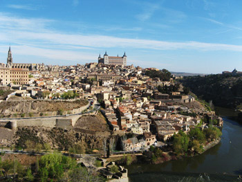 across-the-river view of toledo, spain