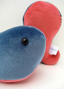 velour plush whales