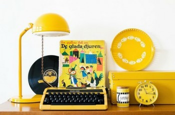 yellow - vintage by color by hilda grahnat